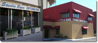 StudioEyes Burbank at 3808 Riverside Drive, Suite 100 next to AFTRA SAG Federal Credit Union